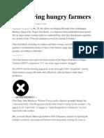 Massacring Hungry Farmers
