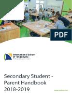 secondary student parent handbook 2018-19a
