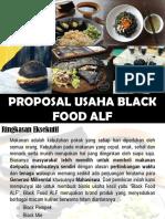proposal usaha black food