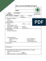 Lembar Pelayanan Informasi Obat