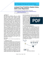 Machine Learning based Crop Prediction System Using Multi-Linear Regression