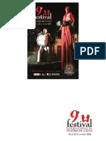Programa del Festival Internacional de Teatro de Calle Zacatecas 2010