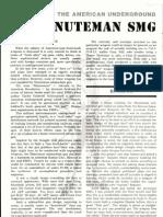 Firepower! Magazine 1984 Minuteman Homemade .45 Smg by Gary Hill