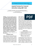 The Automated System for General Administration using QR Code