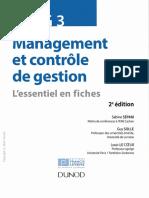 Sabine Sépari, Guy Solle, Louis Le Coeur-DSCG 3 Management Et Contrôle de Gestion - L'Essentiel en Fiches-Dunod (2014)