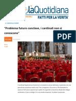 """""""Problema Futuro Conclave"""
