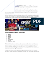 Situs Judi Bola Terbaik Sejak 2009