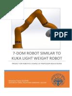 7-Dom Robot Similar to Kuka Light Weight Robot