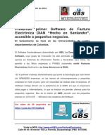 FacturaElectronicaDIAN -GBS- Boletin de Prensa -DiasTIC
