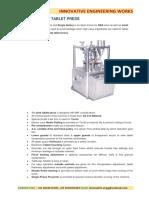 Tablet Press Machine Detail