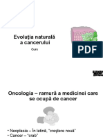 1 VIzvrCurs 1 - Evolutia Naturala, Carcinogeneza