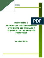 Estudio Coste Económico traslado fosfoyesos Huelva