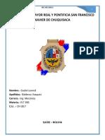 Universidad Mayor Real y Pontificia San Francisco Xavier de Chuquisaca 2