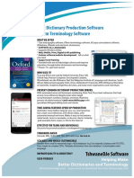 Snapshot Overview of TLex and tlTerm Lexicography and Terminology Software