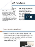PPT GAP/MASALAH PENELITIAN