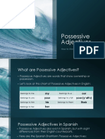 possessive adjectives long and short forms