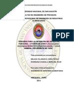 """PROCESO PARA LA OBTENCIÓN DE UN NÉCTAR FUNCIONAL A PARTIR DE SANKY MARACUYÁ Y AGUA MINERAL PROCEDENTE DE YURA"""".pdf"""