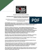 Global Citizen - Siya Kolisi Announcement