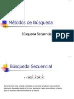 Métodos Busqueda Secuencial