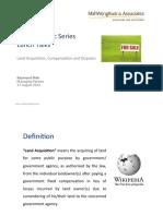 MWKA PSLT Land Acquisition Compensation and Disputes 2