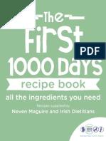 First 1000 Days Recipe Book