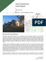 Brookline Demolition Report