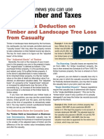 Income Tax Deduction on Tree Losses From Casualty