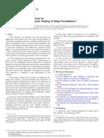 ASTM D4945 12 High Strain Dynamic Testing of Deep Foundation