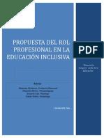 Propuesta Del Rol Profesional en La Educacion Inclusiva