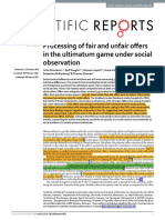 Processing of Fair and Unfair Offers in the Ultimatum Game Under Social Observation