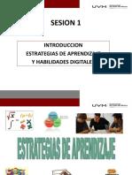 Sesion 1 Estrategias de Aprendizaje y h.d. 10 de Septiembre 2018