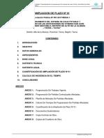 INFORME AMPLIAC. DE PLAZO N° 01