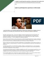 [Servindi 2015] Peru No Se Cumple La Participacion Oportuna e Informada de La Poblacion