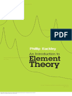 An introduction to element Theory