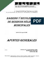 Barrido y recolección de residuos municipales