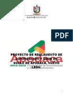 Reg. Zonificacion y Usos de Suelo Apodaca Nl Consultapublica