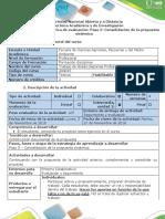 Guía de Actividades y Rúbrica de Evaluación - Paso 5 -Consolidación de La Propuesta