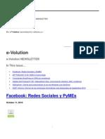 e-VolutionNEWSLETTER-11deOctubre2010