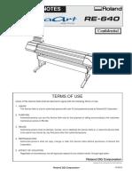 Service Manual Roland RE-640
