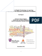 The Impact of Dgital Technologies on Learning