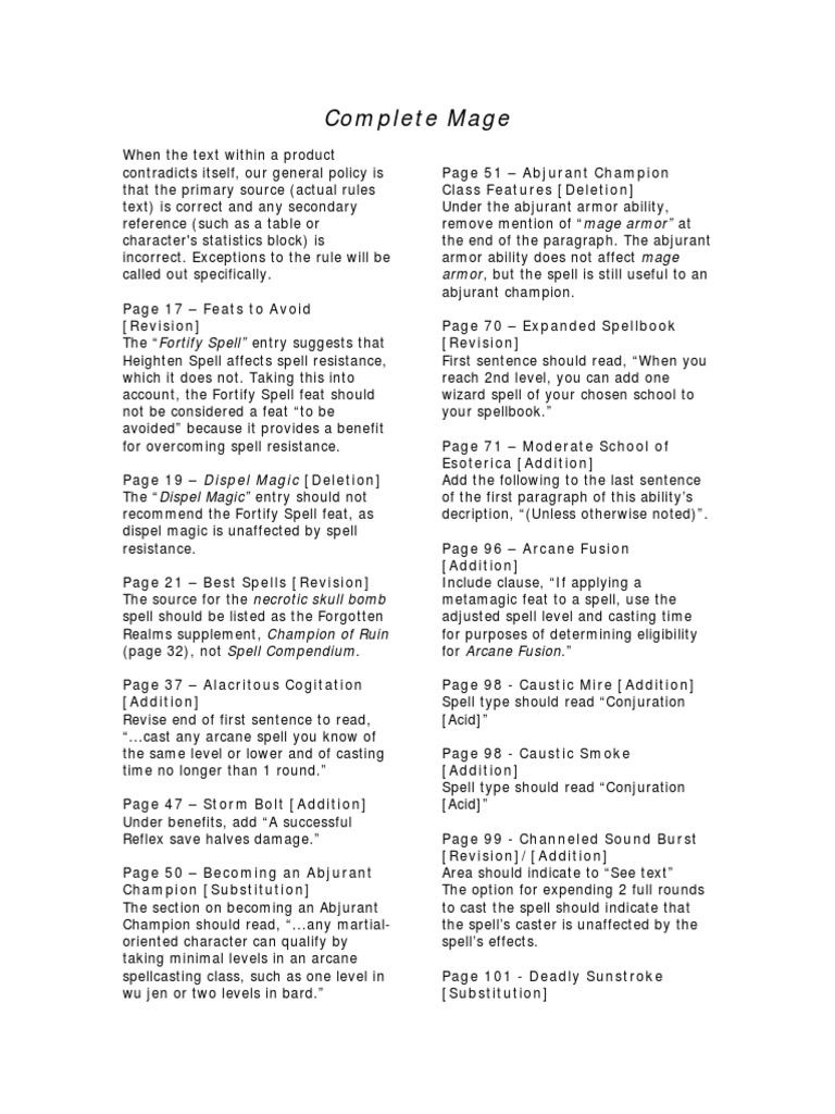 72512652-D-D-3-5-Complete-Mage-Errata pdf   Wizards Of The Coast