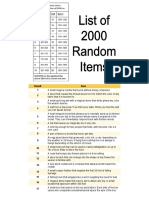 2000 Random Items
