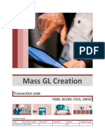 Mass GL Creation