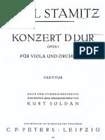-Stamitz Viola Concerto Full Score