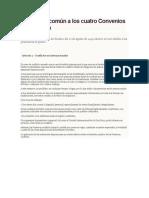 Artículo 3 Común a Los Cuatro Convenios de Ginebra