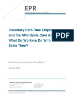 Voluntary Part-Time Employment and the Affordable Care Act