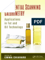 Differential Scanning Calorimetry Applications in Fat and Oil Technology