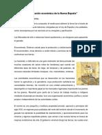 Organización Económica de La Nueva España