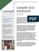 internship summary
