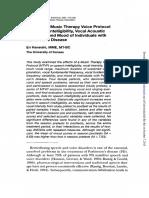 2001 Parkinson y Protocolo de Voz Musica